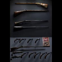 Air-guns and fire-arms from the 1st half of the 19th century