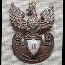 Eagle of the 2nd Infantry Regiment 1st Infantry Rifle Division 1st Polish Corps in Russia