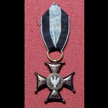 Gold Cross of the Order of Virtuti Militari of Józef Patelski, lieutenant of the 1st Infantry Rifles Regiment