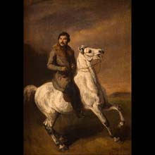 Portrait of Maksymilian Oborski on Horseback