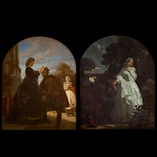 The Year 1863. The Leave-Taking and The Welcome diptych