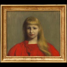Little Girl In Red Dress (Portrait of Józefa Oderfeld)