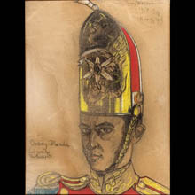 Self- portrait in a a Guard's Shako
